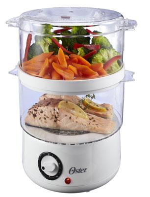 3. Oster CKSTSTMD5-W 5 Quart Food Steamer, White