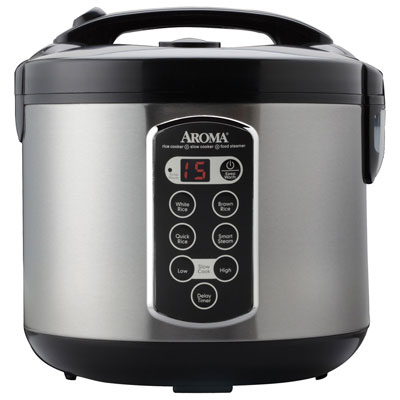 10. Aroma professional 20-Cup (Cooked) (10 Cup UNCOOKED), Digital Rice Cooker, Food Steamer & Slow Cooker (ARC- 20000ASB), Top 10 Best Food Steamer 2019 Reviews