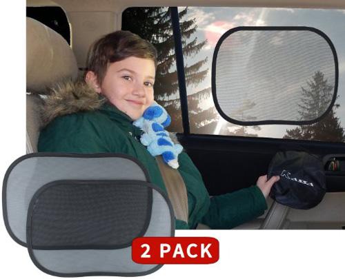 #5.Kassa Car Window Sun Shades Static Cling UV Protection, Set of 2