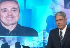 William Bonner se emociona no 'Jornal Nacional' com morte de Gugu