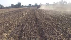 تجهيز الارض لزراعة القمح