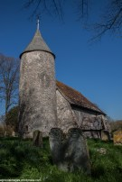 Round tower of St Peters Church, Southease