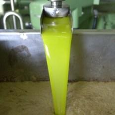 chorro de aceite extayendose