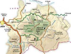 mapa sierra magina