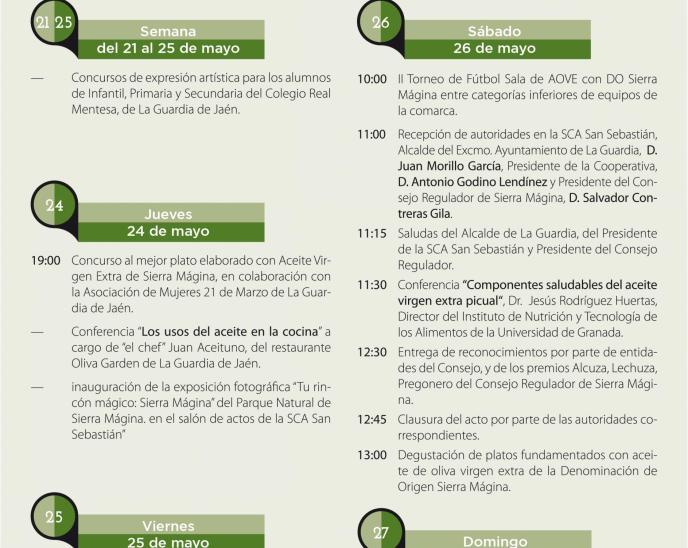 La Fiesta del Olivar acogerá un año más la entrega de los premios Alcuza, Lechuza y Pregonero del Consejo Regulador de la DOP Sierra Mágina, entre otros galardones.