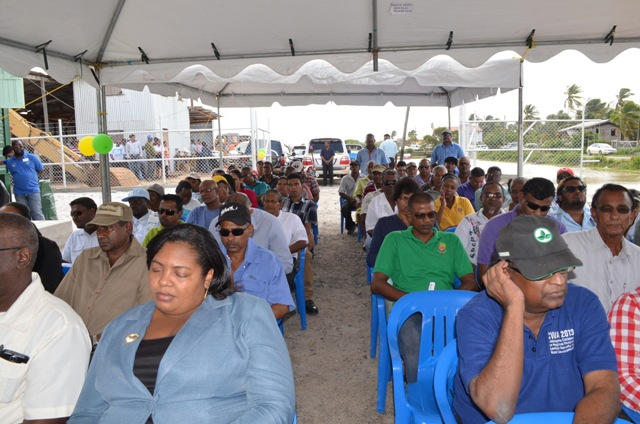 The gathering at the commissioning of the Lima pump station