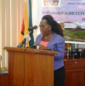 Permanent Secretary (ag.), Ministry of Agriculture, Mrs. Joylyn Nester-Burrowes