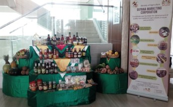 Some of the products on display at the Marriott