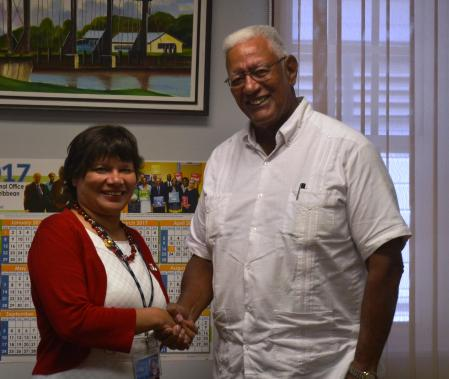 Agri. Minister, Noel Holder and Canadian High Commissioner, H.E. Lilian Chatterjee