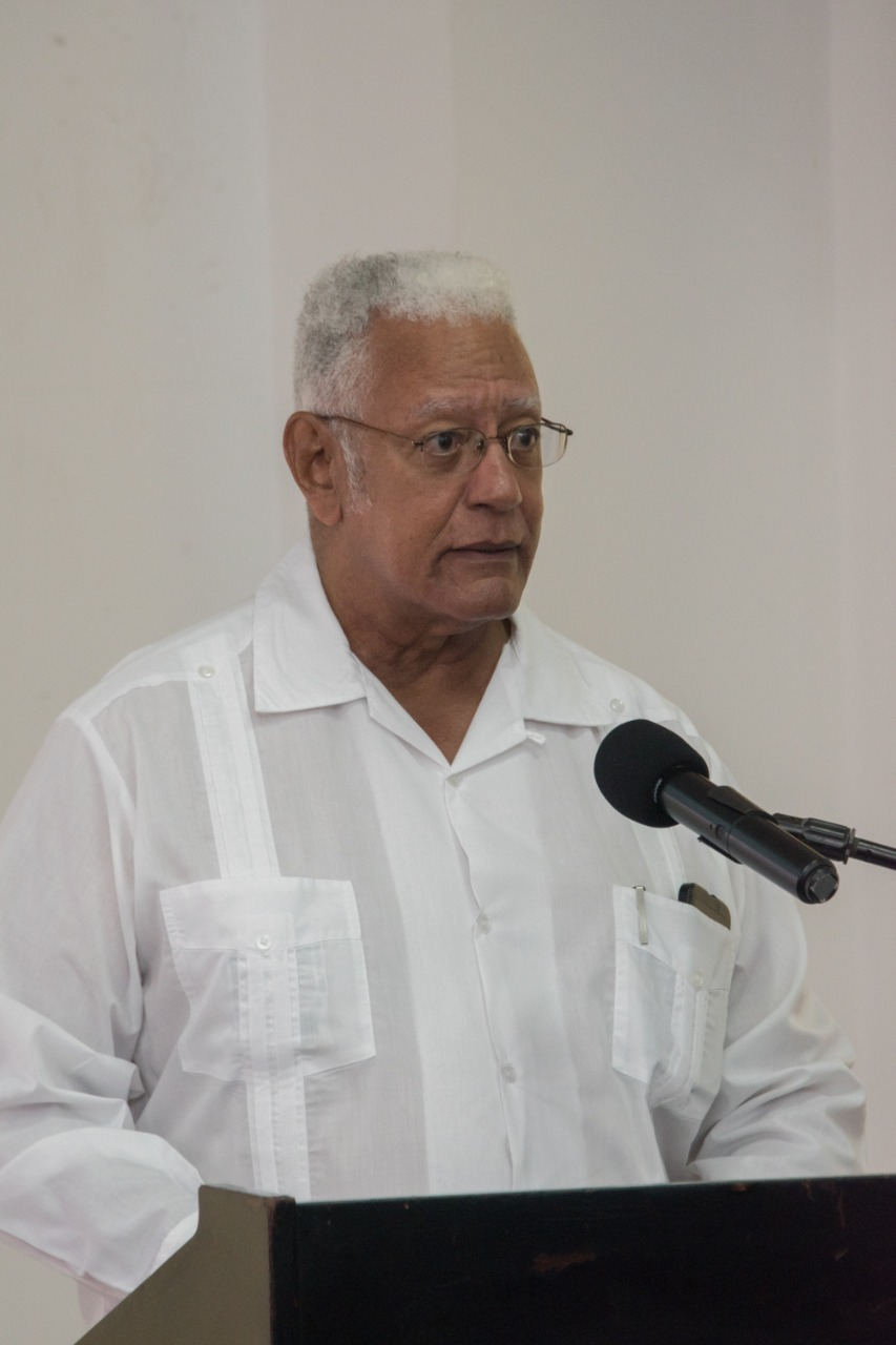 The Honourable Minister of Agriculture Noel Holder