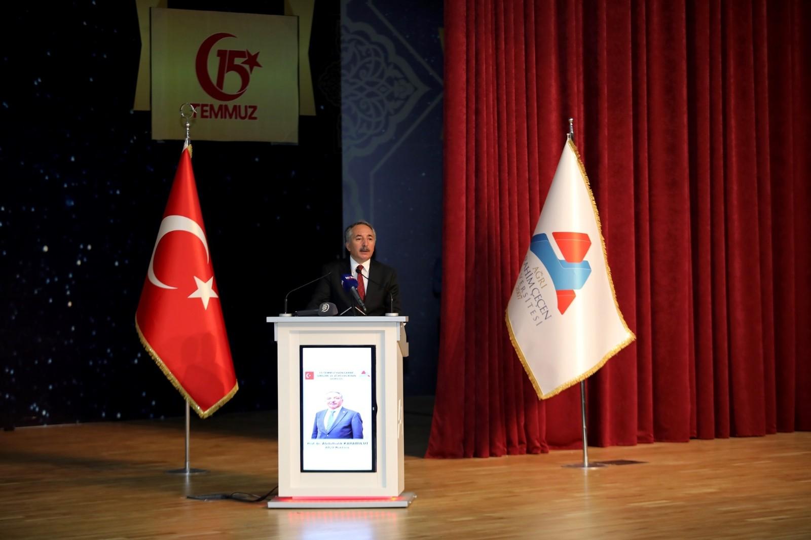 """AİÇÜ'de """"15 Temmuz Hain Darbe Girişimi ve Ağrı Halkının Duruşu"""" konulu konferans gerçekleştirildi"""