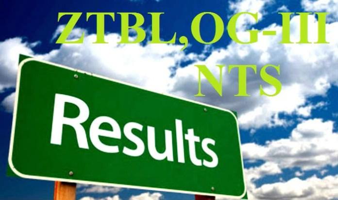 ZTBL OG-III NTS Result annnounced