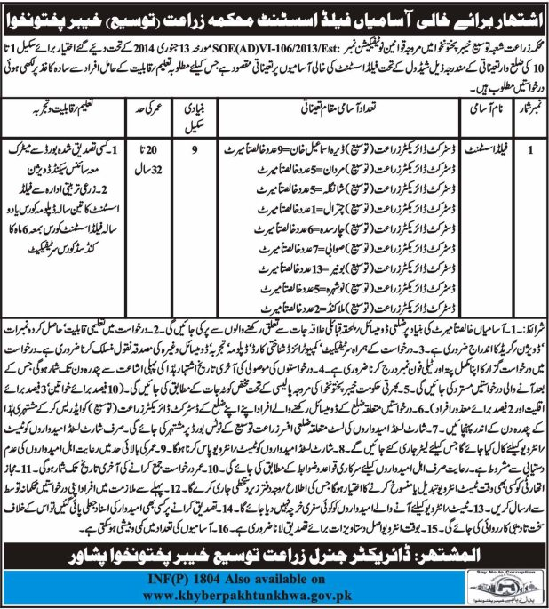Jobs-in-Agriculture-Department-Govt-of-Khyber-Pakhtunkhwa-13-Apr-2018
