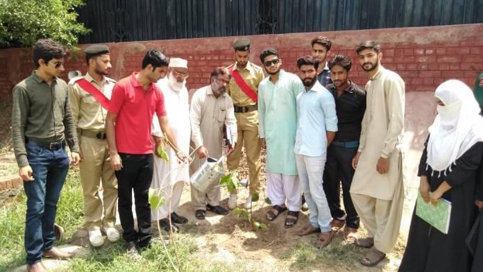 ایگری ہنٹ سوسائٹی، ہم پاکستان اور فاریسٹ ڈپارٹمنٹ کے زیر اہتمام ایس ای کالج بہاول پور میں شجرکاری مہم کا افتتاح