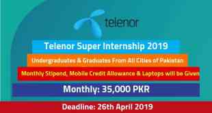 Telenor Super Internship 2019 in All Cities of Pakistan – Paid Internship-by-saad-ur-rehman-malik