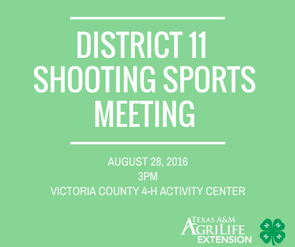 District 11 Shooting Sports Meeting