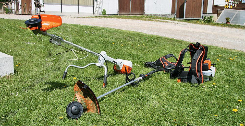 Stihl bosmaaier - de motor op de rug of aan een steel - Agri Trader testrapport (2)