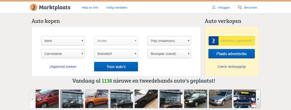 Marktplaats verhoogt tarieven voor de groep Auto's