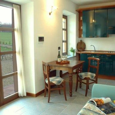 Cucina nell'Appartamento Verde