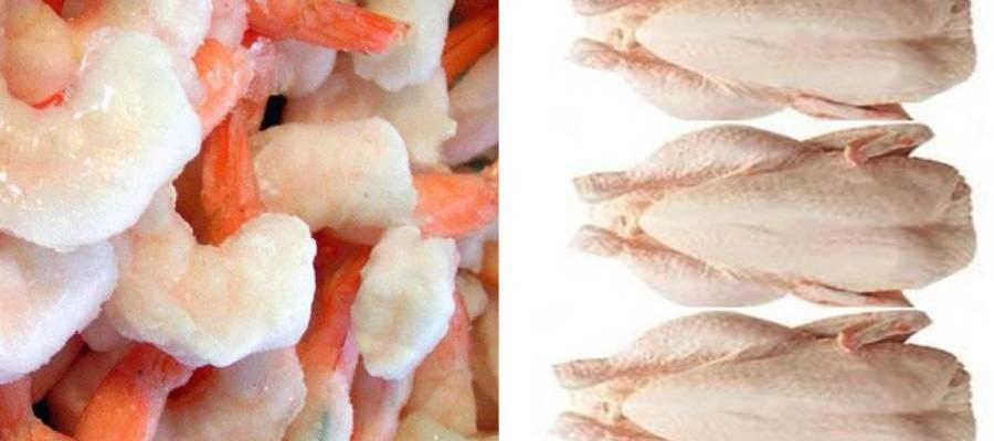 Shrimps and chicken Corona