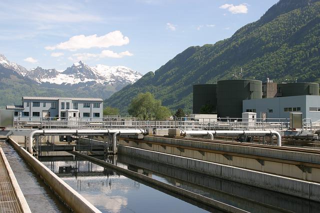 Planta de tratamiento de agua residual en Suiza