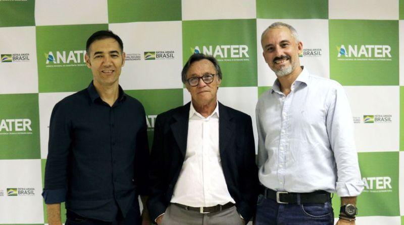 anater incaper Presidente da Anater, José Maria Pimenta Lima, Coordenador do Incaper, Luis Bricali e o analista da Anater, Luis Tividini
