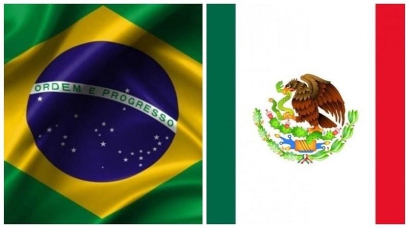 bandeiras brasil mexico montagem
