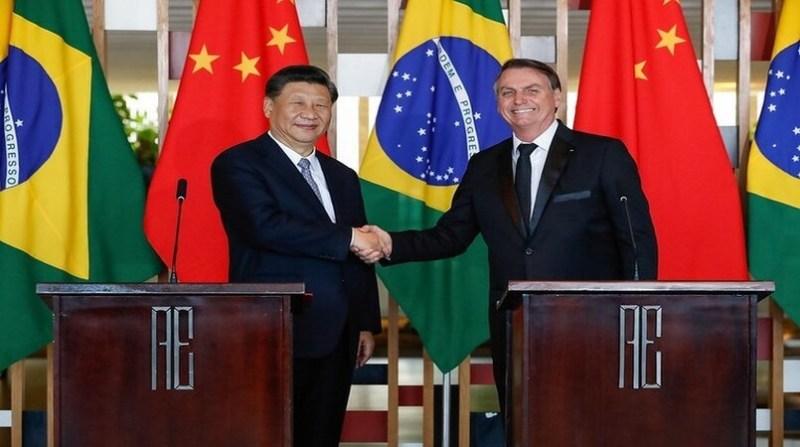 bolsonaro e presidente chines alan santos pr