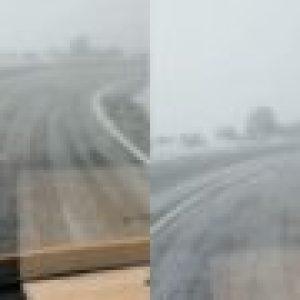 Prima ninsoare din acest sezon! Autoritățile au intervenit imediat cu material antiderapant!