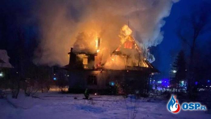 Dwie osoby zginęły w pożarze trzy trafiły do szpitala.