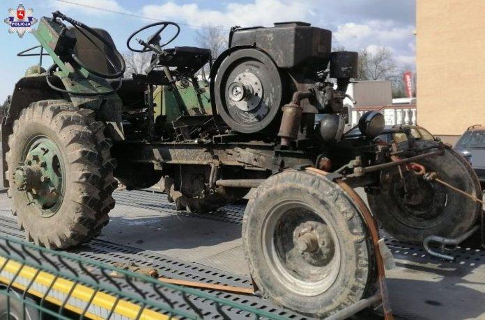 Pijany traktorzysta samoróbką bez świateł szarżował po mieście