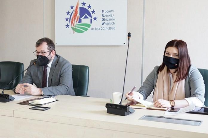 Min. Grzegorz Puda i sekretarz stany Anna Gembicka podczas spotkania z ODR-