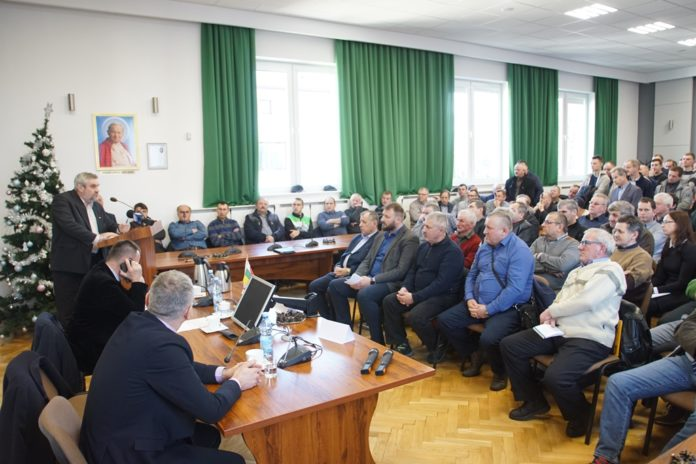 rolnik, rolnictwo, Jan Krzysztof Ardanowski, spotkania w Lubawie z rolnikami, protest rolników, spotkanie z rolnikami