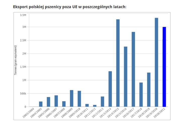 Polski eksport pszenicy poza UE zwolnił