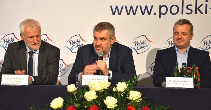 kampania cukrownicza, buraki cukrowe, cukier, Kruszwica, Jan Krzysztof Ardanowski, minister rolnictwa,
