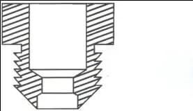 Fig. N°(12): schéma en coupe D'un ajutage