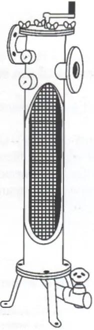 Fig. N°(16): schéma d'une coupe de filtre à tamis  Source (Léopold RIEUL, Pierre RUELLE, 2003)