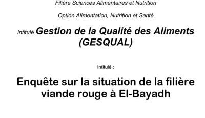 Enquête sur la situation de la filière viande rouge à El-Bayadh