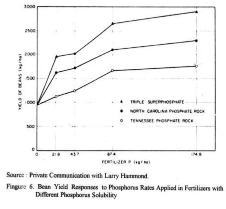استجابة المحاصيل للأسمدة أيضاً على نوع مادة السماد المستعمل وعلى معطيات العوامل الأخرى والتي تؤثر في عملية الإنتاج