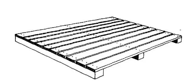 منصة خشبية نموذجية
