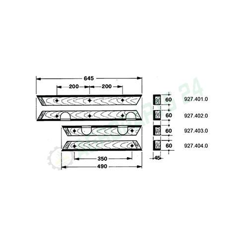 Claas Bautz Compact 410, 460 Holz Schiene Führungsholz Kolbenführungs Komplettset Passt Zu: Claas - Bautz, Compact 410, 460 Teilnummer: 927.401.0, 927.402.0, 927.403.0, 927.404.0 2