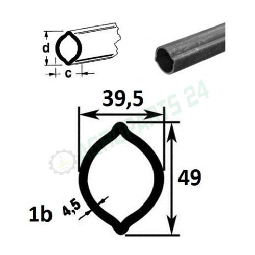 Zapfwelle 1b L400 - 1400, 49x39, 5x4, 5
