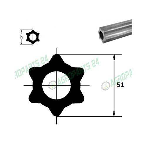 Zapfwellenprofi - 57,5 x 48 x 4 Länge - 1000mm.