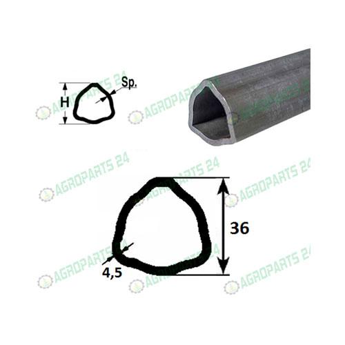 Profilrohr Gelenkwelle Walterscheid 36,0 x 4,5mm