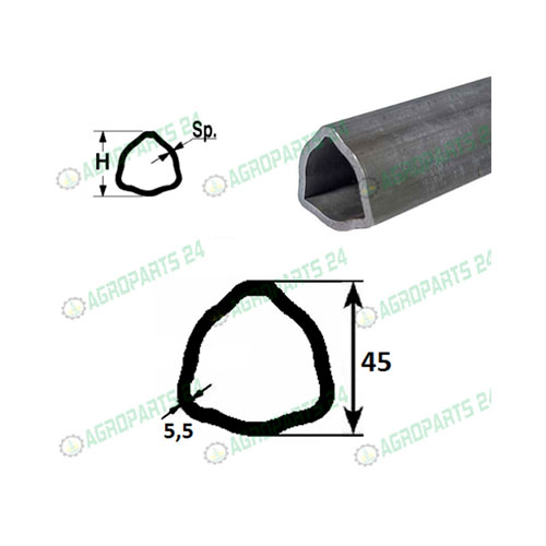 Profilrohr Gelenkwelle Walterscheid 45,0 x 5,5mm