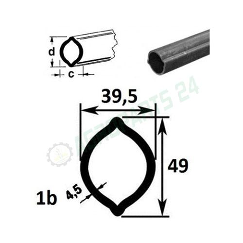 Zitronenprofil 1b L400 - 1400 49x39 - 5x4,5 2