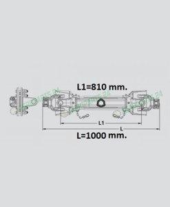 Zapfwelle Gelenkwelle S4-S5, 1 3/8, Z=6, 830 Nm, L=1000 2