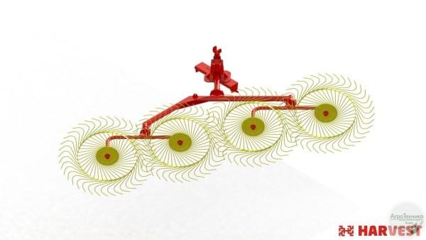 Навесные колесно-пальцевые грабли ГКП 2,8Н