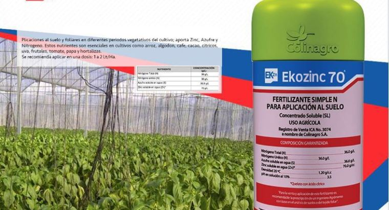 Ekozinc 70 fertilizante