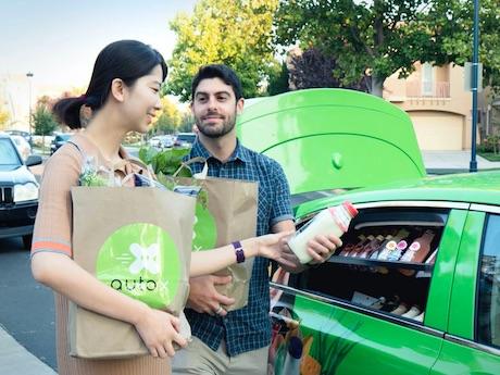 Entrega de la compra en 10 minutos en un vehículo autónomo
